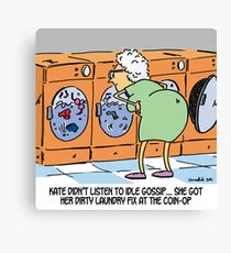 Dirty laundry fix Canvas Print