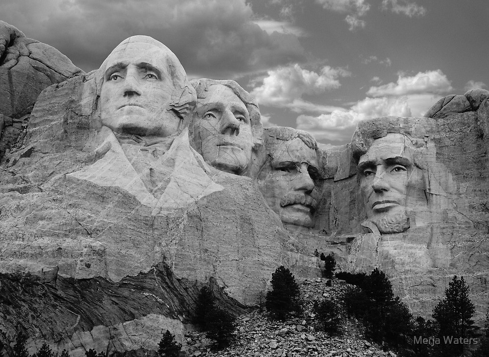 Evening at Mt. Rushmore by Merja Waters