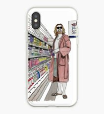Jeffrey Lebowski and Milk. AKA, the Dude. iPhone Case