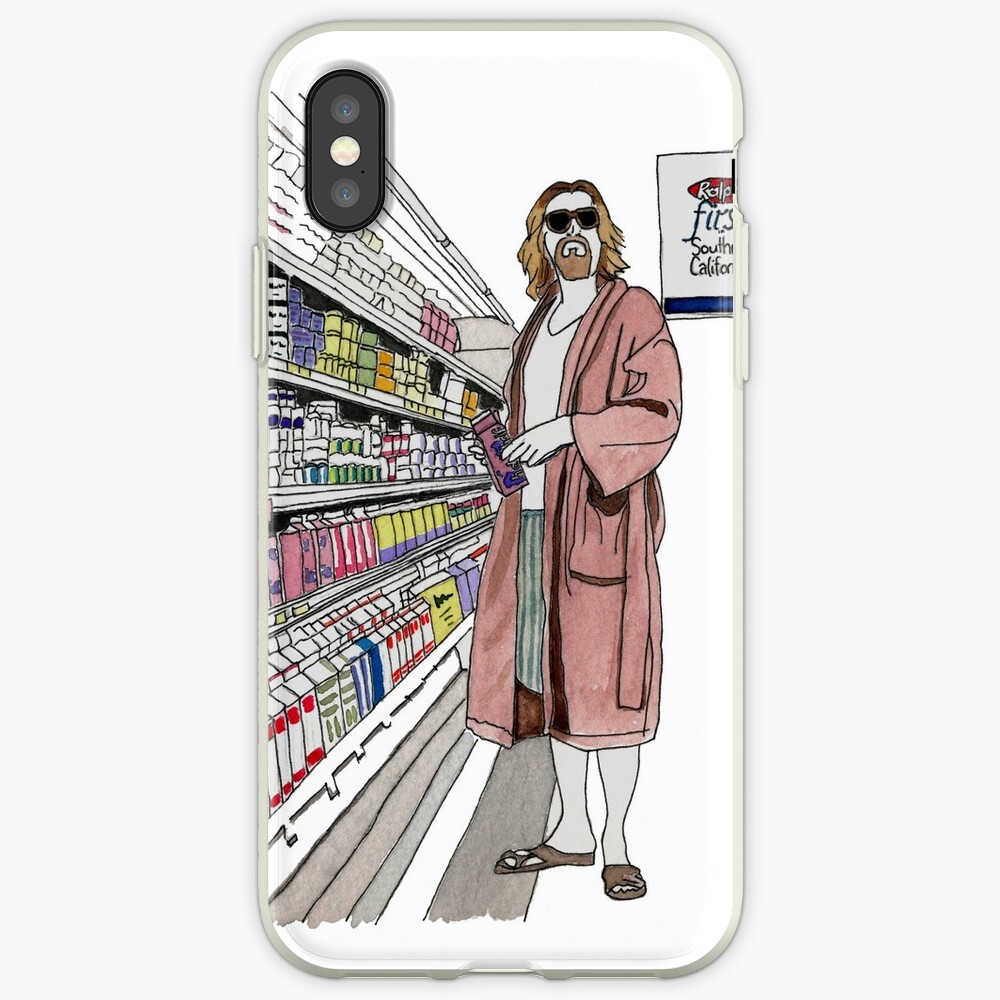 Jeffrey Lebowski and Milk. AKA, the Dude. iPhone Case & Cover