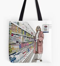 Jeffrey Lebowski and Milk. AKA, the Dude. Tote Bag