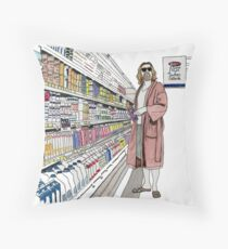 Jeffrey Lebowski and Milk. AKA, the Dude. Throw Pillow
