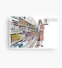Jeffrey Lebowski et Milk. AKA, le Mec. Impression métallique