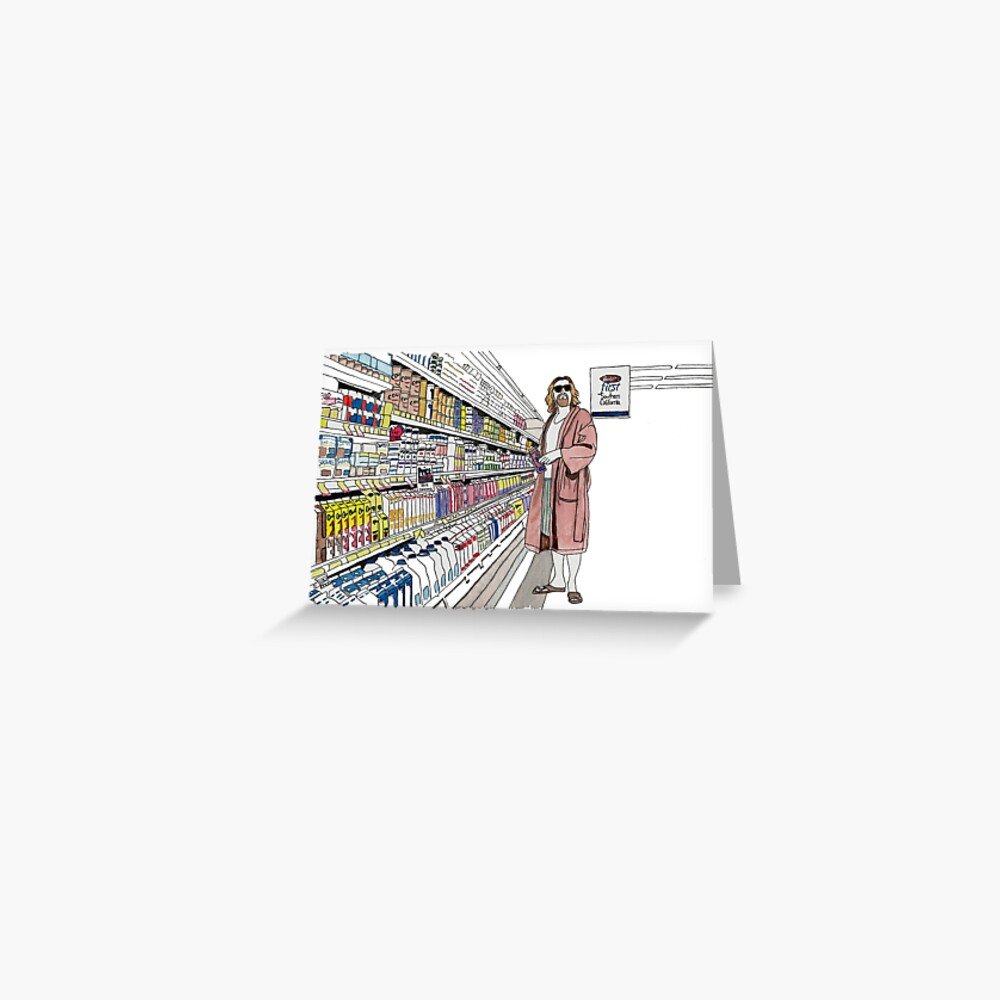 Jeffrey Lebowski and Milk. AKA, the Dude. Greeting Card