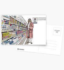 Jeffrey Lebowski und Milch. AKA, der Typ. Postkarten