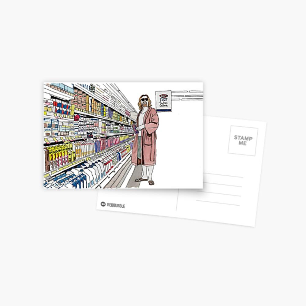 Jeffrey Lebowski and Milk. AKA, the Dude. Postcard