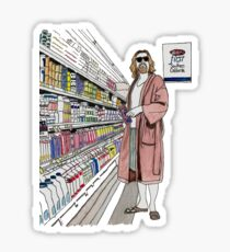 Jeffrey Lebowski and Milk. AKA, the Dude. Sticker