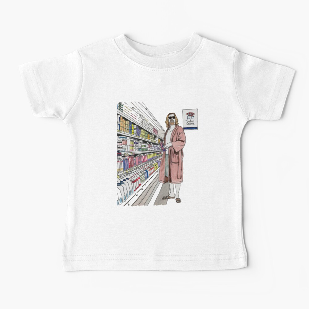 Jeffrey Lebowski and Milk. AKA, the Dude. Baby T-Shirt