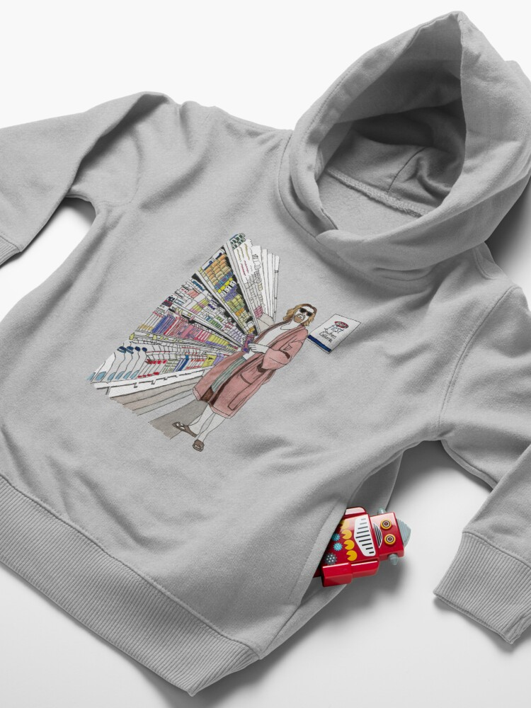 Alternate view of Jeffrey Lebowski and Milk. AKA, the Dude. Toddler Pullover Hoodie