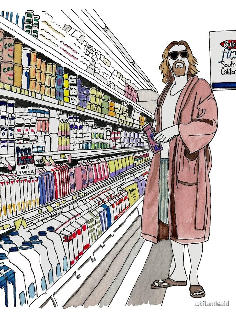 Jeffrey Lebowski and Milk. AKA, the Dude. by wtfiamisaid