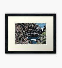 Rock & Ocean Framed Print