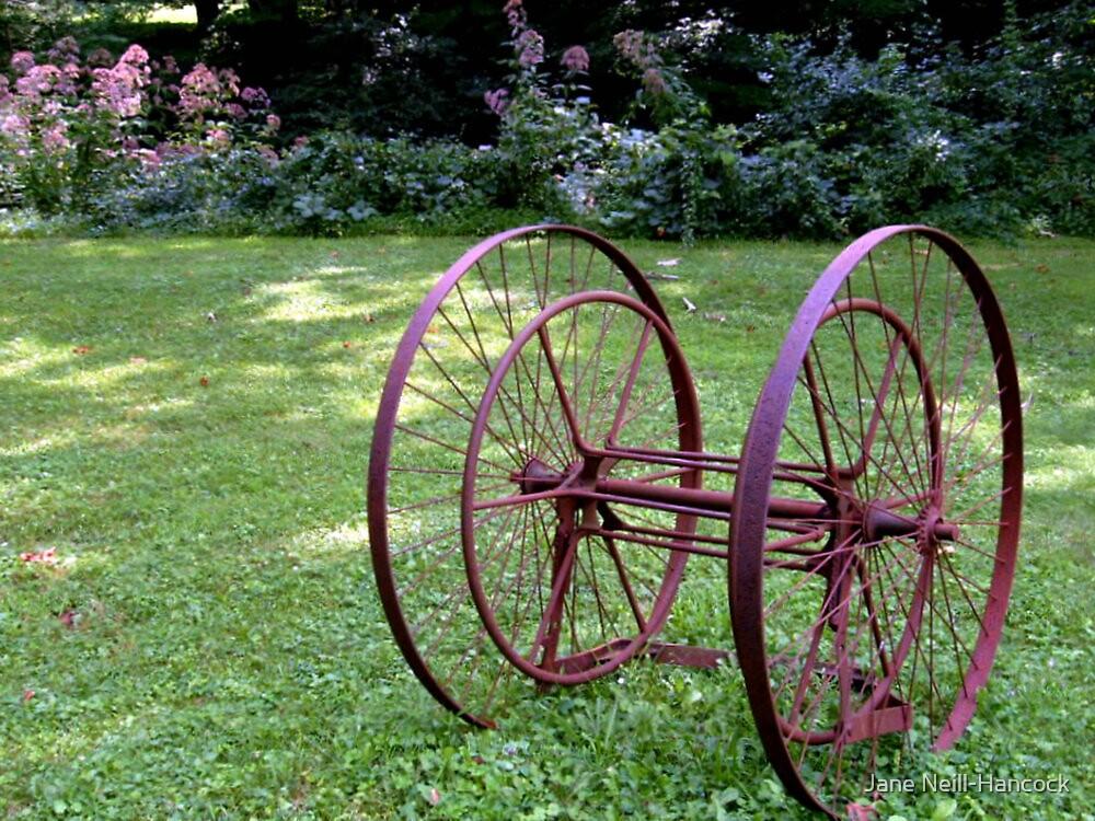 Antique Farm Wheels by Jane Neill-Hancock