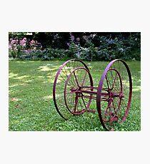 Antique Farm Wheels Photographic Print