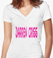 darren criss disney Women's Fitted V-Neck T-Shirt