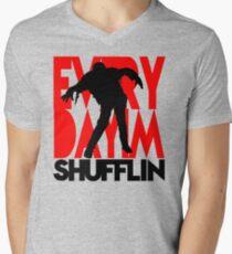 Zombie Shuffle (blk) Men's V-Neck T-Shirt