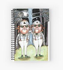 The Tweedles collaboration Spiral Notebook