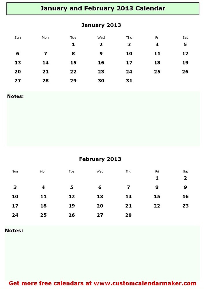 First two months of 2013 by Annie Edison