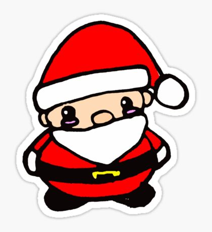 Chibi Santa Sticker