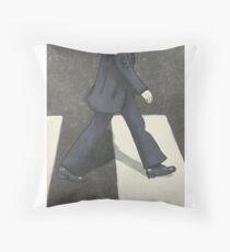 The Beatles Ringo Starr Illustration Abbey Road Zebra Crossing Throw Pillow
