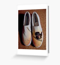 We put Birds on Things (Painted Shoes) Greeting Card