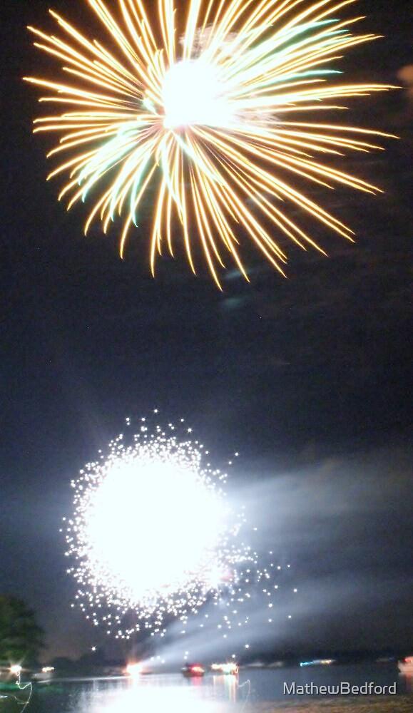 Fireworks on the Norfolk Broads by MathewBedford