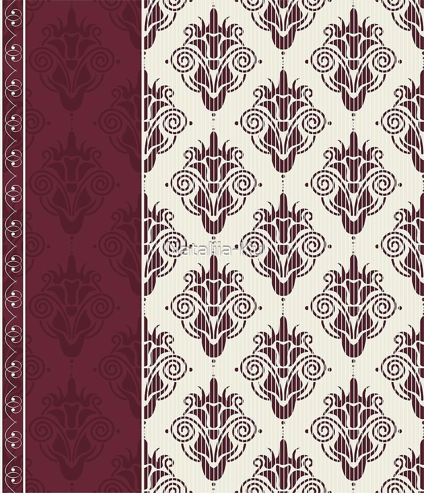 Vintage Damask Pattern by Nataliia-Ku