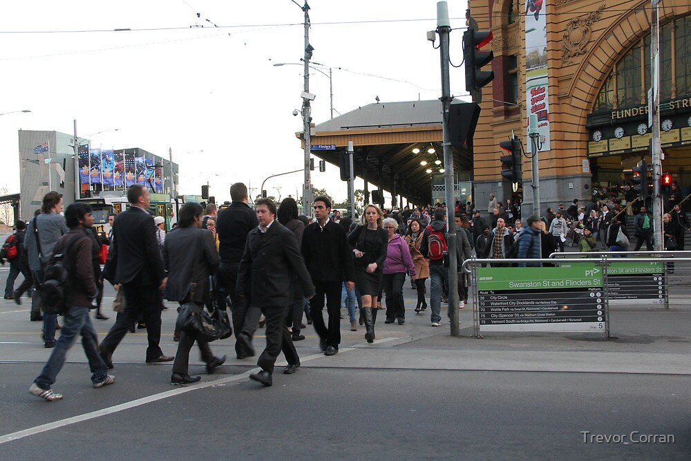 People in Melbourne one by Trevor Corran