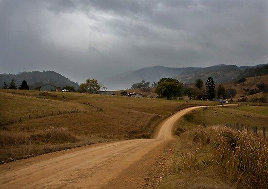 Rain on the Hills by Rodney Wratten