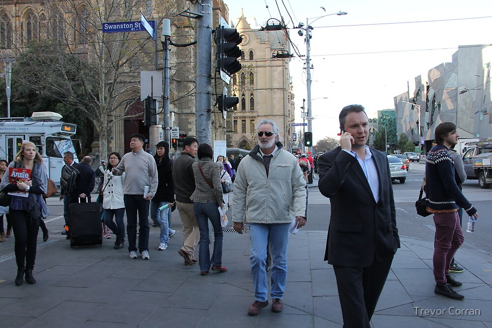 People in Melbourne four by Trevor Corran