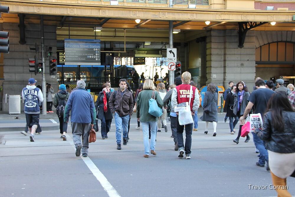 People in Melbourne five by Trevor Corran