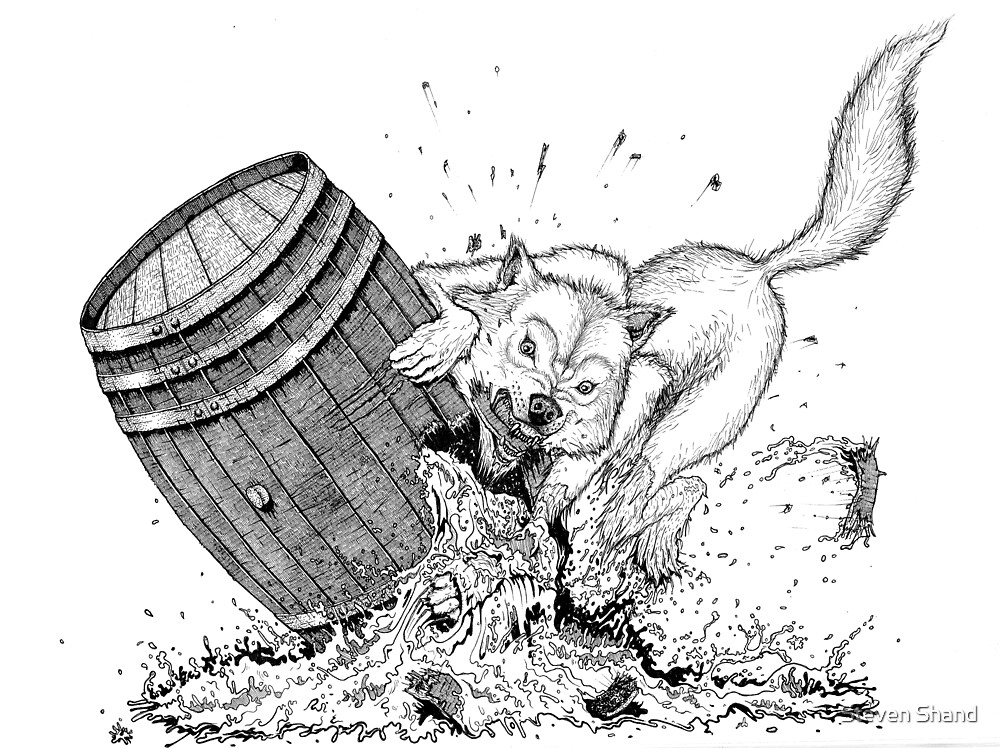 WHITE DOG by Steven Shand
