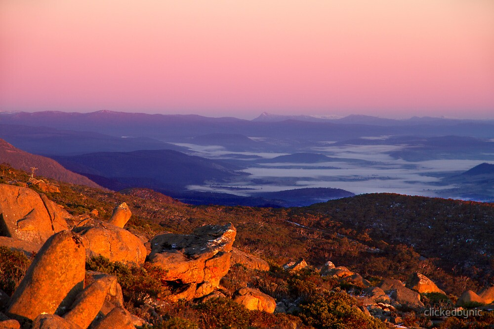 Painted by the Sun - Mount Wellington, Tasmania by clickedbynic