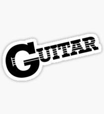 Alpha Guitar Sticker