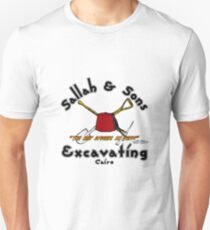 Sallah and Sons Excavating Front Slim Fit T-Shirt
