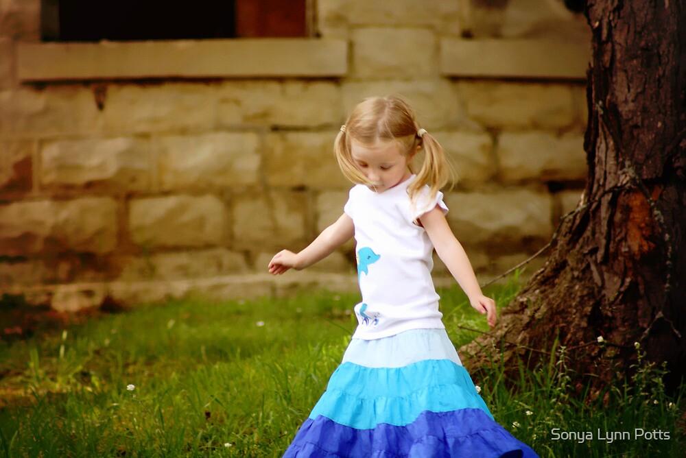 Look, Grandma, my skirt dances with me! by Sonya Lynn Potts