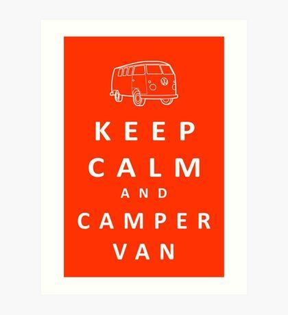 Keep Calm and Camper Van Art Print