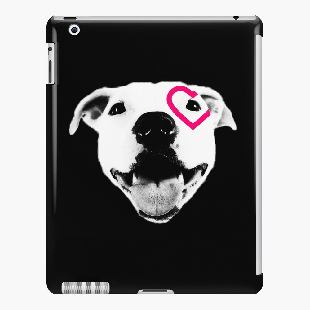 Heart over eye Pittie iPad Case & Skin
