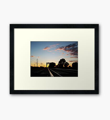 Trestle at Twilight Framed Print