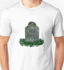 YOLO Gravestone Unisex T-Shirt