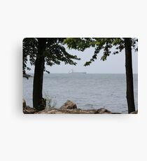 Lake Freighter Canvas Print
