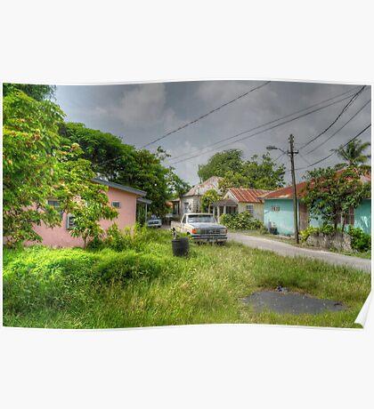Rural Village in Nassau, The Bahamas Poster