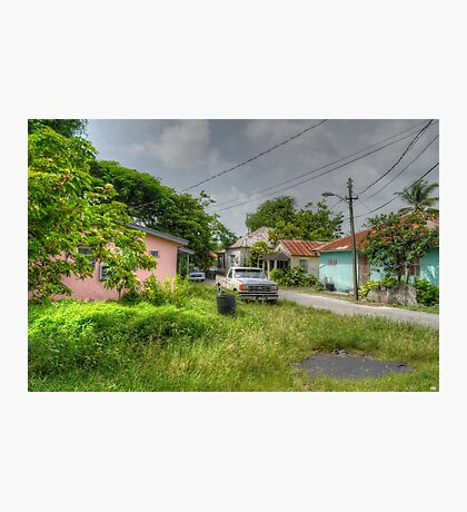 Rural Village in Nassau, The Bahamas Photographic Print