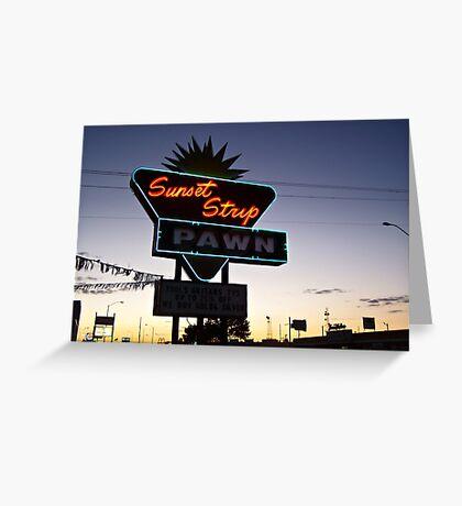 Sunset Strip Greeting Card