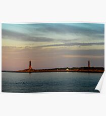 Thacher Island Lights as Dusk Poster