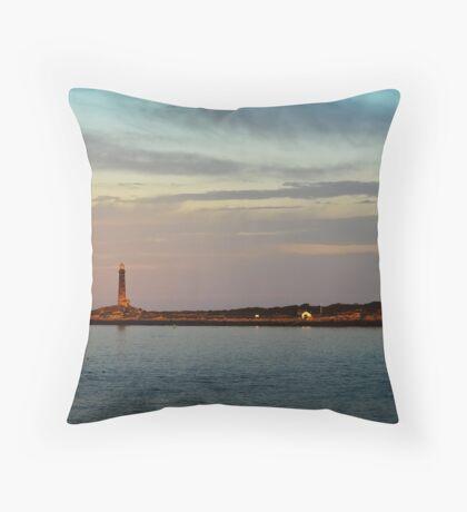 Thacher Island Lights as Dusk Throw Pillow