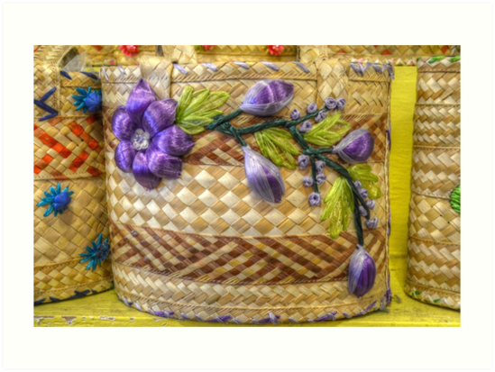 Old Fashion Handmade Straw Bag in The Bahamas by Jeremy Lavender Photography