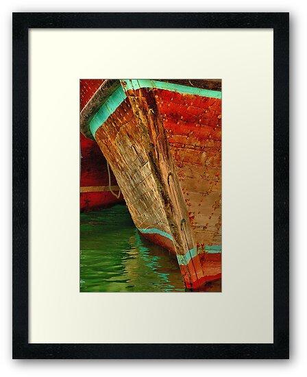 Dubai Creek Dhow Bow at Dhow Wharf by Ian Mitchell