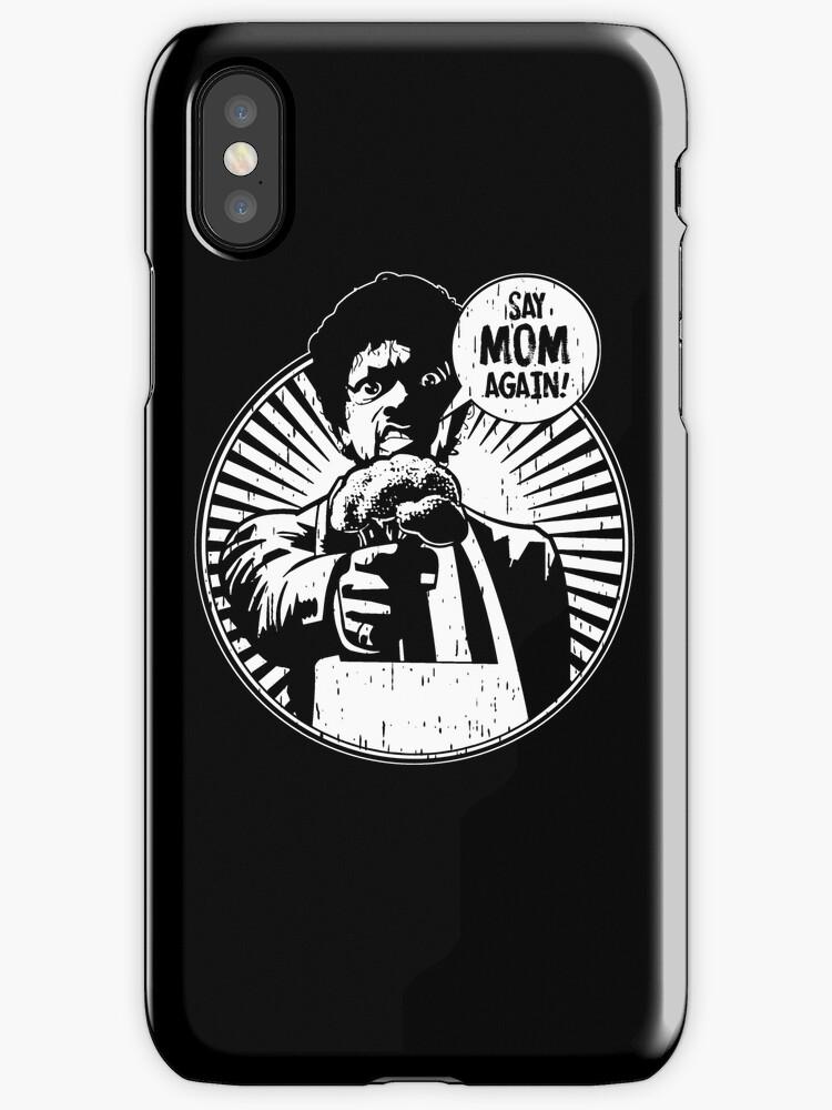 Say Mom Again! dark colors by MomfiaTees