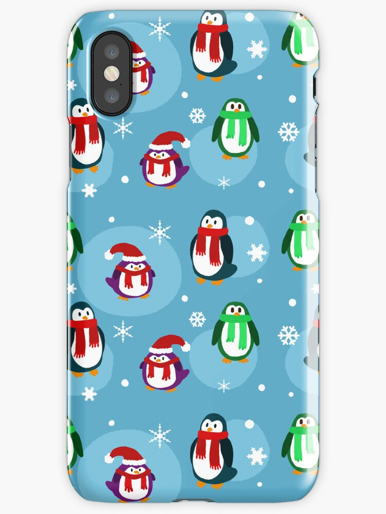 Holiday Penguin Pattern by SaradaBoru