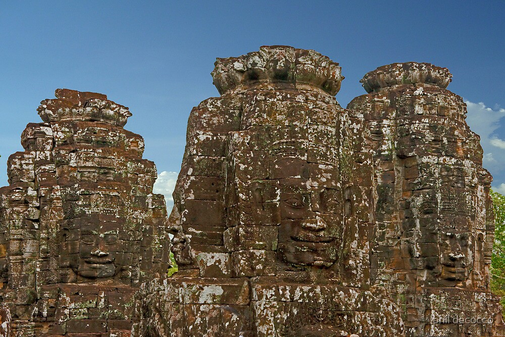 Gates of Angkor Thom by phil decocco